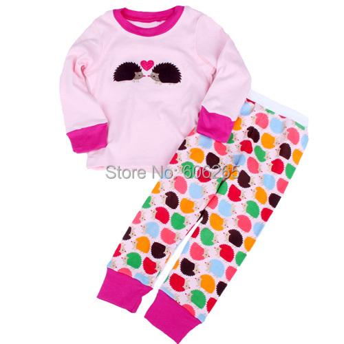Retail 2 pcs set new 2014 girls cotton minnie pajamas boys leopard pyjamas kids sleepwear clothes baby clothing(China (Mainland))