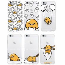 Cute Funny Gudetama Cartoon Character Egg Pattern Lasy boys Soft Clear Phone Case For iPhone 7Plus 7 6plus 6 S 5 S 4 S SE(China (Mainland))