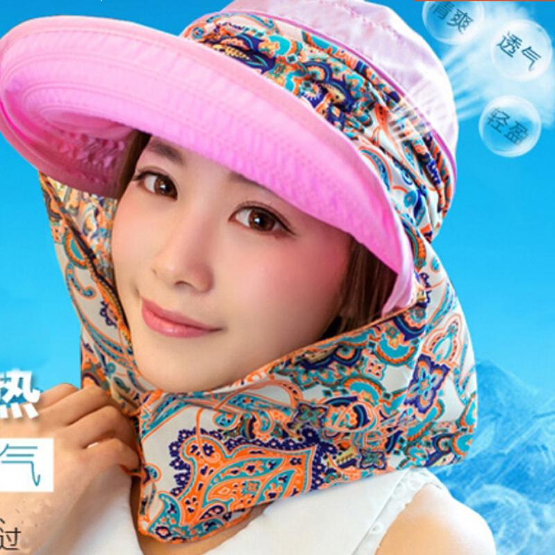 2016 Summer Style Women Foldable Wide Large Brim Floppy Beach Gorro Hats Outdoors Visors Cap Sun Collapsible Anti-Uv Hat(China (Mainland))