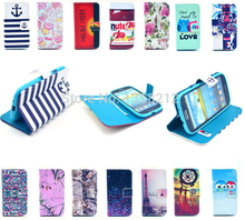 1PCS Hot Owls Tower Tiger Flowers Fashion Flip Wallet Stand Cover Cases For Samsung Galaxy S3 SIII i9300 Luxury PU Leather Case(China (Mainland))
