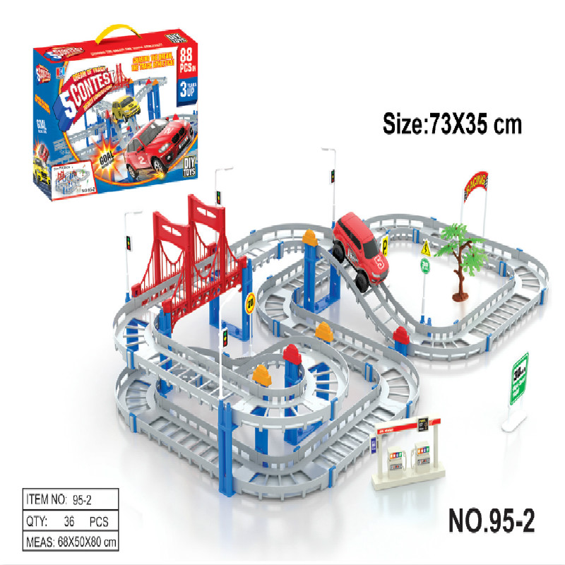 New ArrivalRail car toy Multilayer railcar kids toys Thomas electric train track toy Toys with retail pack 88 Sets Of Model Toys(China (Mainland))