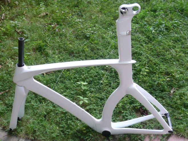 New brand, white glossy finish full carbon time trial frame ISP/carbon frame+fork+seat post(China (Mainland))