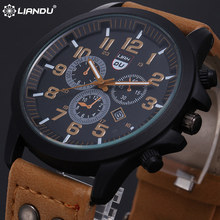 Liandu Mens relojes deportivos de lujo Top Brand 2015 nueva Casual relojes del cuarzo militar Masculino Relogio del reloj deportivo hombre