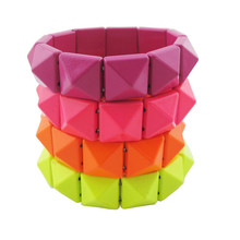 # BR39 Fluorescent New neon color punk bracelets  TAA-4.99 wholesale charms  abc(China (Mainland))