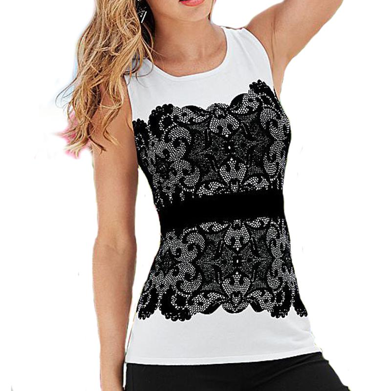 Black Lace Women Blouses Sexy Sleeveless White Black Crochet Casual Shirts Tops Summer Elegant Ladies Casual Blouse Female Blusa(China (Mainland))