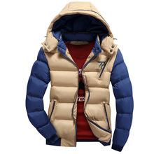M-4XL Winter Jacket Men Plus Size Cotton Padded Qulited Jackets Coat Man Outerwear Windproof Warm Parka Men Hooded jacket(China (Mainland))