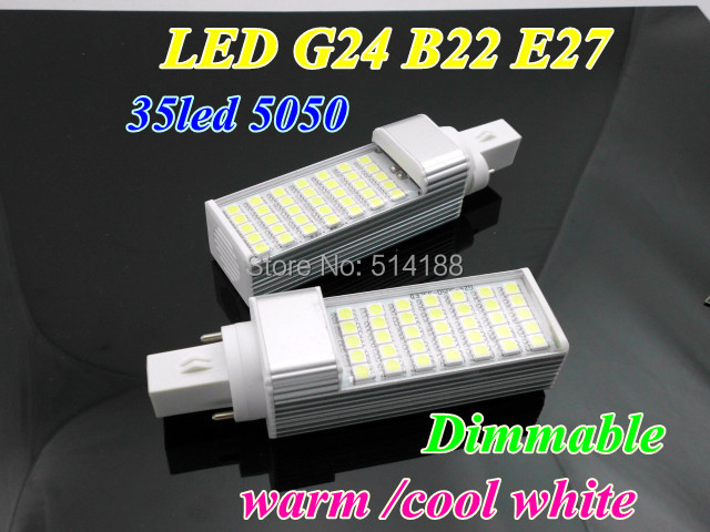 Top sale 12W E27 G24 B22 LED Corn Bulb Dimmable Lamp 35smd 5050 AC85-265V cool/warm white Horizon Light - Brightron Lighting Factory store