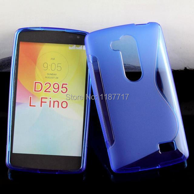 30pcs/lot free shipping Soft TPU Gel S line TPU Cover Case For LG L Fino D295(China (Mainland))