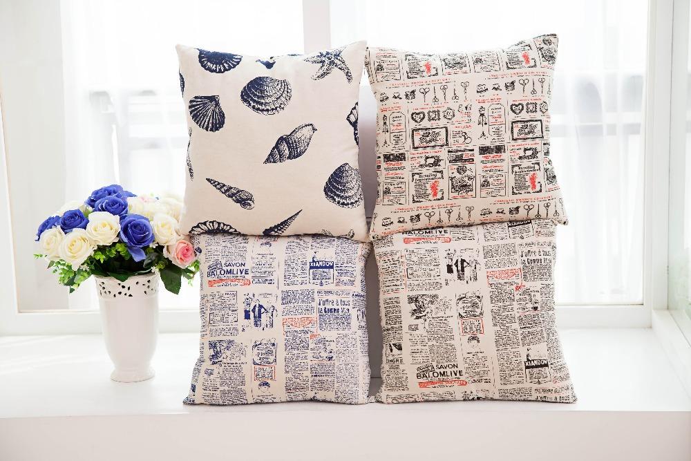 ZT130 HOME TEXTILE decorative pillows case cushion cover sofa cushion cotton linen good quality drop shipping(China (Mainland))