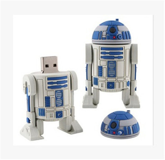 100% real capacity Blue robot star war /star track USB flash Drive Card Memory Stick Drive 32GB 16GB 8GB 25% off S40(China (Mainland))
