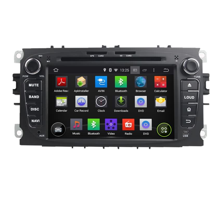 7 Inch 2 Din Car Stereo For Ford Mondeo S Max Transit Connect,Android 5.1.1 Lollipop Quad Core 1.6G CPU,16G Flash GPS DVD Player(China (Mainland))