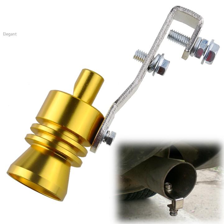 Universal Car Bov Turbo Sound Whistle Simulator Sound Pipe Exhaust Muffler Pipe: New Universal Golden Car Turbo Sound Exhaust Muffler Pipe