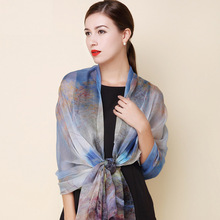 2016 winter 100% real silk scarf Shawl hijab wrap for women ladies long style spring Summer Beach cover-up 175x108CM(China (Mainland))
