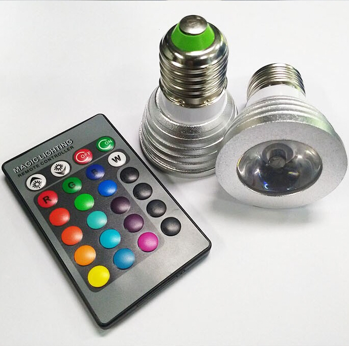4W E27 RGB LED Bulb 16 Color Change Stage Lamp Spotlight AC85-265v for Home Party Holiday Christmas Decoration With IR Remote(China (Mainland))