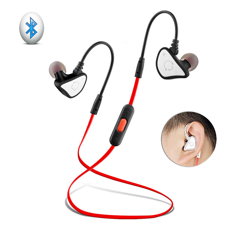 Universal Wireless Bluetooth Stereo Headset Ear Hook Running Earphone Sport Mp4 Wireless Studio Headphones With Mic BE05(China (Mainland))