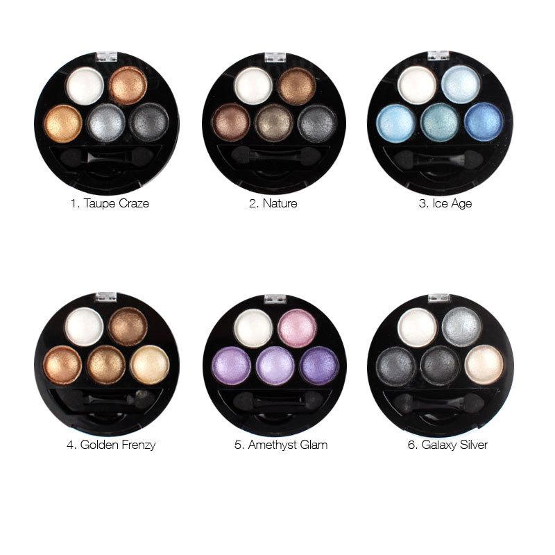 Professional Pigment sombra 5 cores sombra em pó Metallic Shimmer cores quentes 8807 # 1 pcs 1 pcs