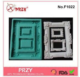 mirror/picture frame  modelling 3D soap mold Cake decoration mold Cake mold manual Handmade soap mold candle(China (Mainland))