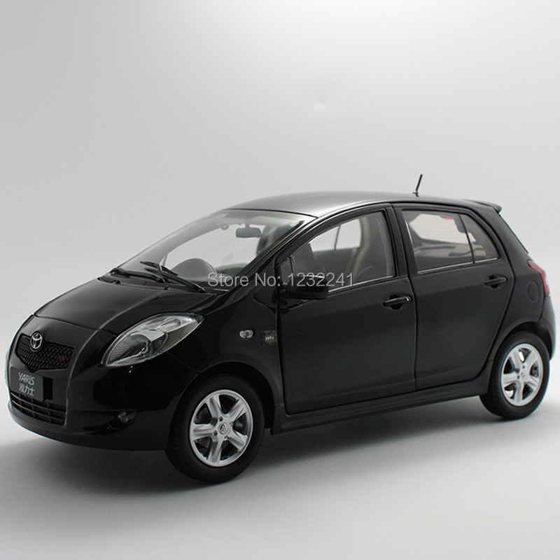 Details 100% New Free Shipping DIECAST MODEL,DEALER 1:18,CHINA TOYOTA YARIS 2008 black model car Toys Gift for Children(China (Mainland))