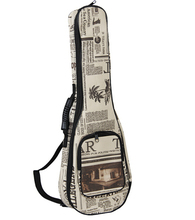 Free Shipping High Quality 24 inch Newspaper Printing concert Padded Ukulele Bags Ukulele Soft Gig Bags Small Guitar Cases(China (Mainland))