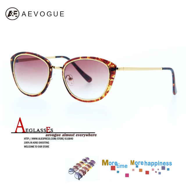 Очки aEVOGUE бесплатная доставка марка кошачий глаз старинные женщины металлический каркас высокое качество солнцезащитные очки женский 20 шт./лот AE0140