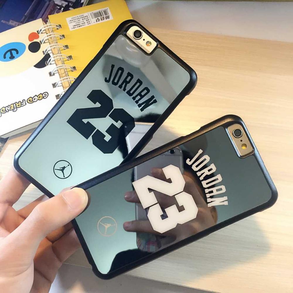 coque for iPhone 6 6 plus 5s 5 case bulk back cover brand Michael Jordan 23 fundas carcasa capa coque PC hard mirror chrome case(China (Mainland))