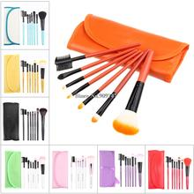 2014 new,Professional purple/black/green/red 7 pcs Makeup brush Tools make up brushes Cosmetic Brushes Free Shipping