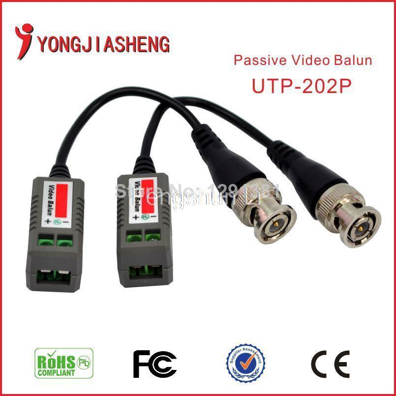 Freeshipping UTP video balun in CCTV Accessories RJ45 bnc connector Single Passive twisted pair transmitter(China (Mainland))