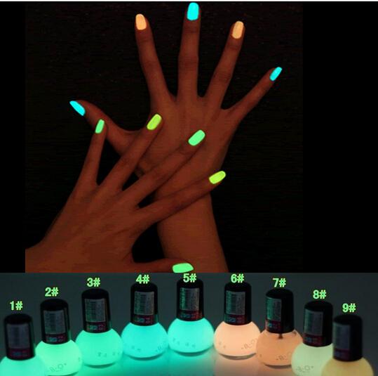 Non toxic Neon Fluorescent Luminous oil matte nail polish candy Transparent Nail Art Varnish Lacquer Paint