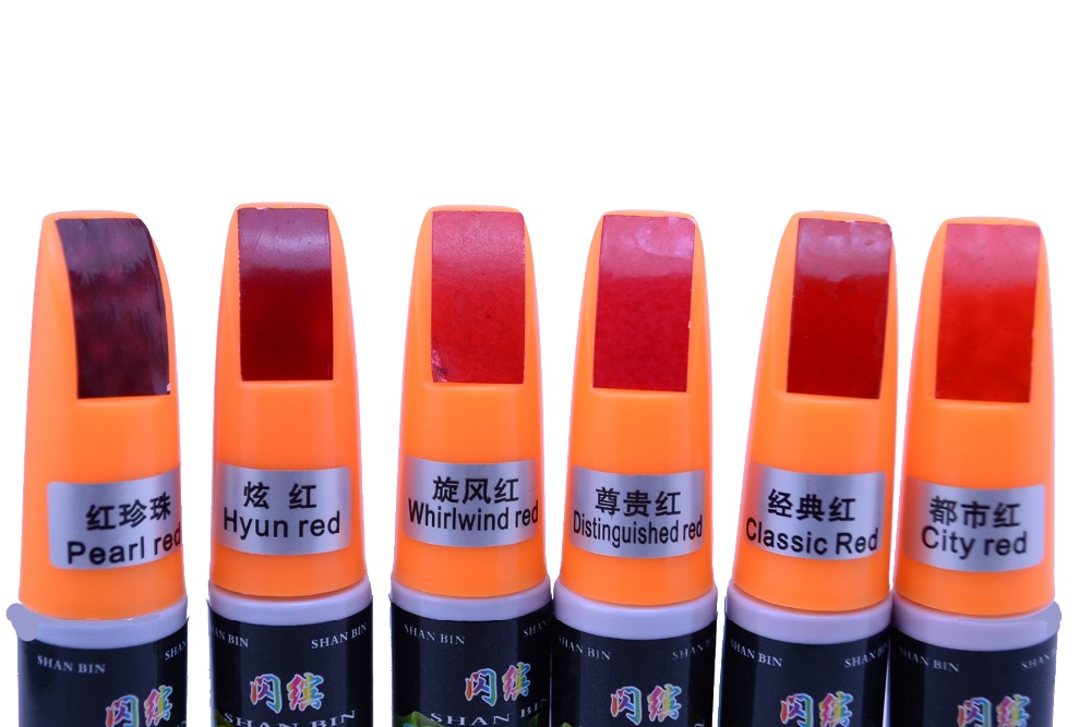 Car Scratch Repair Paint Pen Red Touch Up Paint Scratch Mending Scratch Remover Car Care Fix Scratch Paint Pen Free Shipping(China (Mainland))