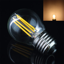 High Quality 400LM E27 COB Small Ball Warm White/ White Tungsten Filament Bulb 4W AC 220V Retro Lamp for Showroom / Meeting Room(China (Mainland))