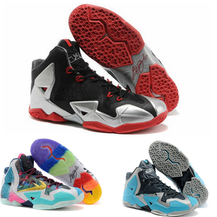 Wholesale 2015 mens Lebrones 11 Basketball shoes high quality free breathable Athletic cheap Shoes(China (Mainland))