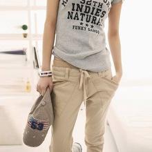 2016 Real Leather Pants Emoji Joggers New Pants Women Slim Harem Calcas Femininas 100% Cotton Casual All-match Plus Size Pencils(China (Mainland))