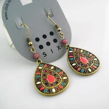 19 color New Sale Vintage Earrings for women Fashion Earrings Statement Jewelry ,Wholesale #DJ078(China (Mainland))