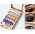 Fashion 6 Colors Diamond High Quality pigment makeup eyeshadow pallette to eye kit maquiagem eye shadow