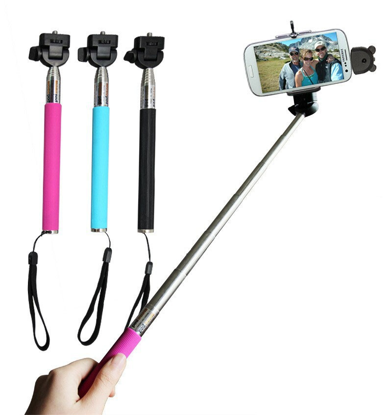 extendable monopod handheld self portrait monopod for iphone 6 6 plus samsung ect smart phone. Black Bedroom Furniture Sets. Home Design Ideas