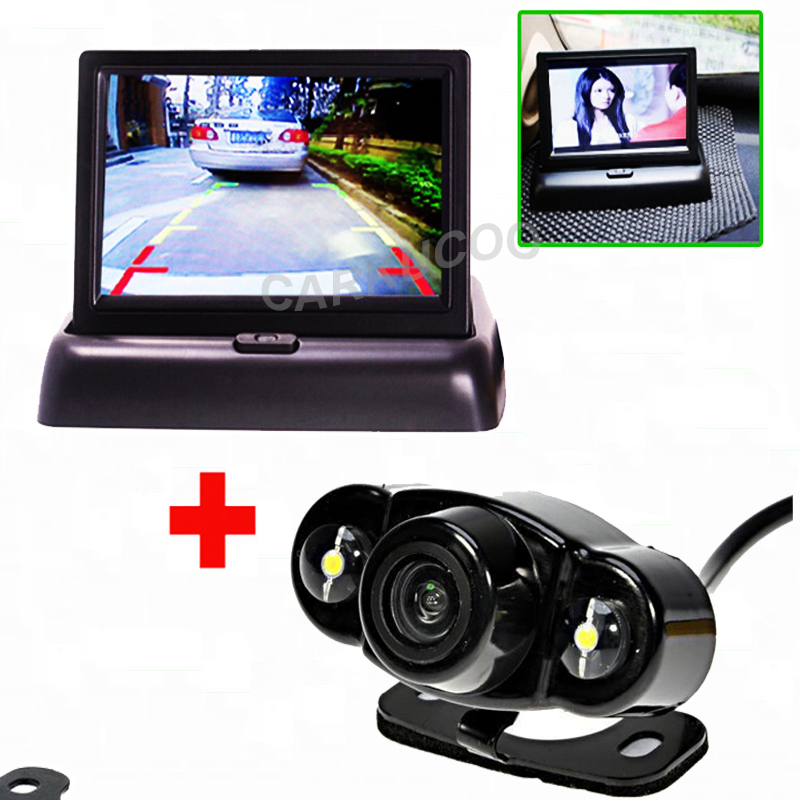 Auto Parking Assistance System Rear Camera Car Camera Back Kind to 4.3 inch Car Flodable Monitor For Car-Styling And Security(China (Mainland))