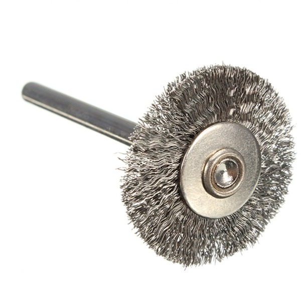 10pcs/lot 22mm Stainless Steel Wire Wheels Brushes for Die Grinder Dremael Rotary Tools<br><br>Aliexpress