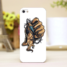 pz0024-3-1 fist tattoo Design Customized cellphone cases For iphone 4 5 5c 5s 6 6plus Shell Hard Lucency Skin Shell Case Cover