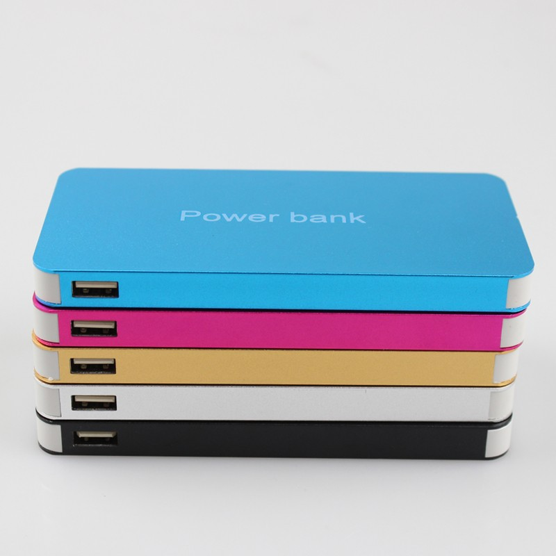 High Quality Slim Powerbank External Battery Dual USB Alloy Shell Portable Charger Power Bank Free Shipping(China (Mainland))