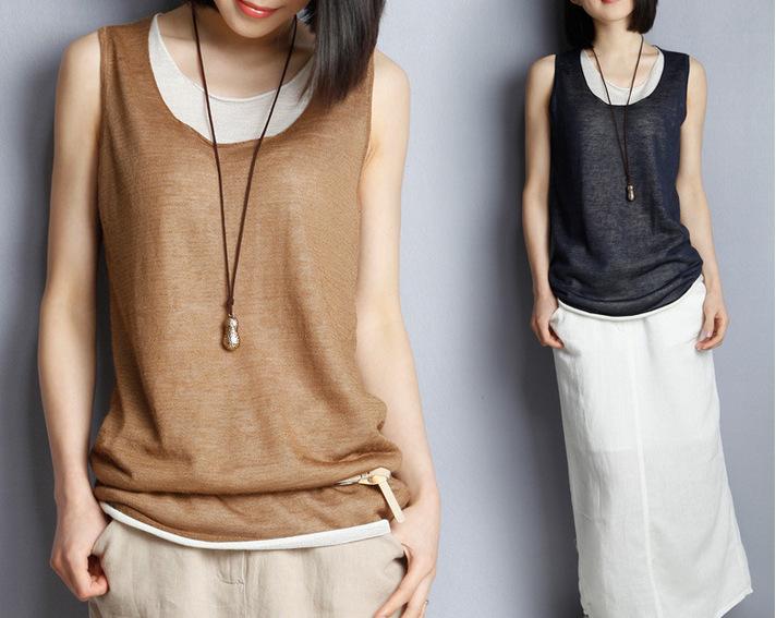 Summer 2016 GirlsTops Sexy Tank Tops Women Cropped Feminino Round Neck Loose Shirt Ladies Vest Singlets(China (Mainland))