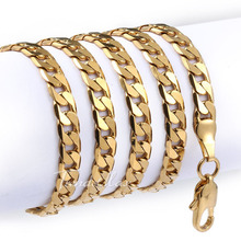 Customized 4mm Mens Chain Womens Unisex Cut Flat Curb Cuban Link 18K Yellow/Rose Gold Filled Necklace Whosale Jewelry GN316