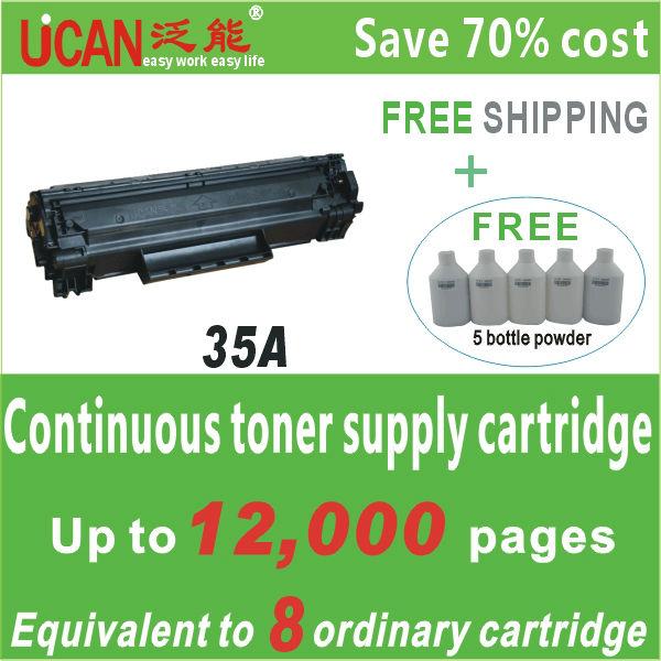 CB435A 35A Compatible Toner Cartridge For HP LaserJet P1005 P1006 Black Color (15000 Pages)(China (Mainland))