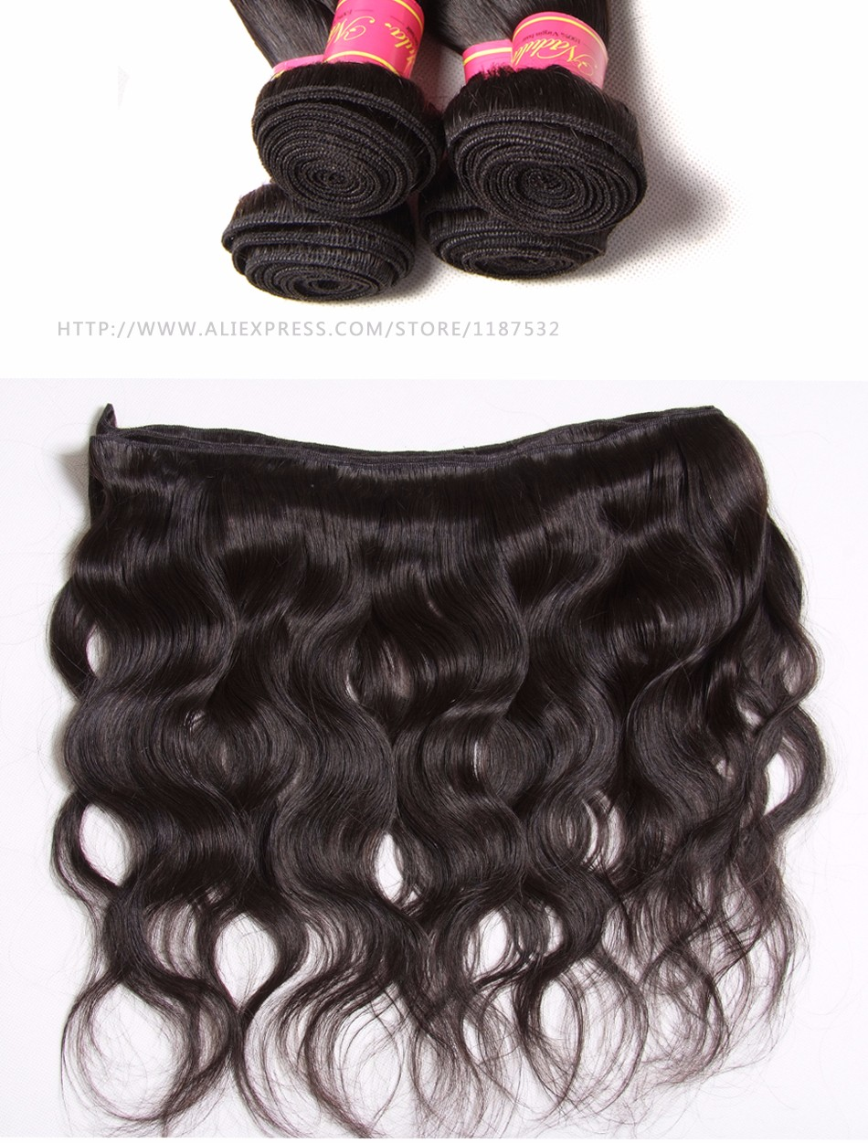 NADULA HAIR 8-30inch Malaysian Body Wave Hair Bundles 100% Human Weaves Non-Remy Hair Natural Color Can be Dyed Hair Extensions