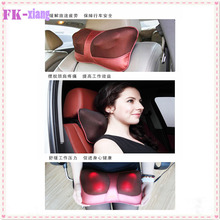 Infrared Heating Double Beauty Body Device Neck Massage Pillow. Home Car Massager Cushion Seat Covers Headrest Care Belts(China (Mainland))