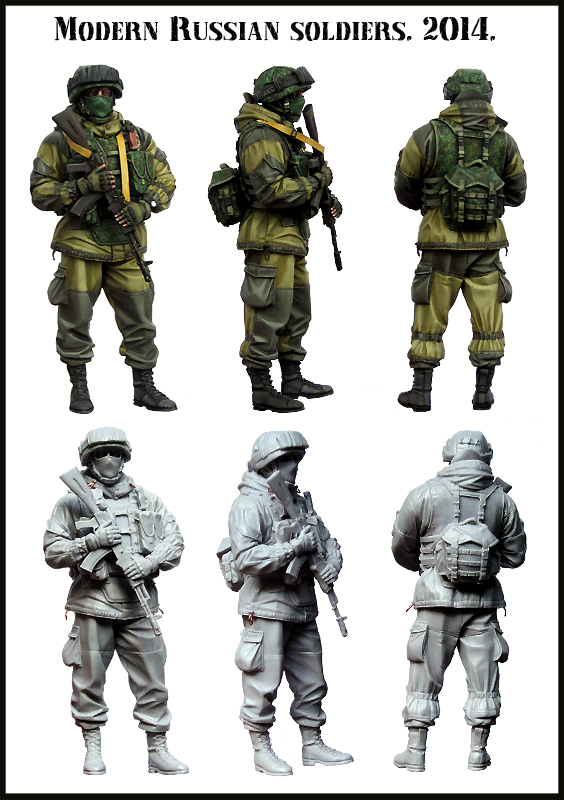 Scale Models 1/35 Modern Russian soldiers 2014(China (Mainland))