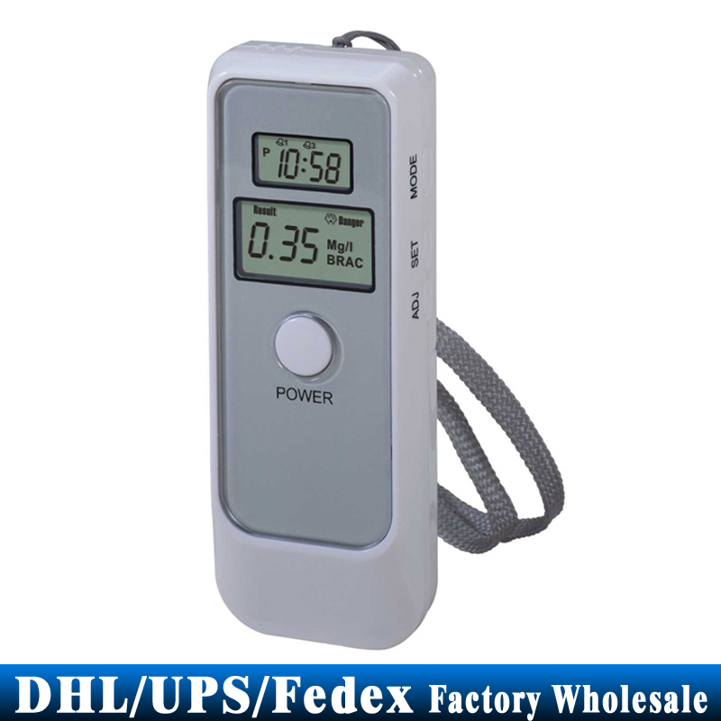 DHL/Fedex/UPS 50PCS Dual Digital LCD Display Backlight Blood Alcohol Breath Tester Breathalyzer Detector Test Testing(China (Mainland))