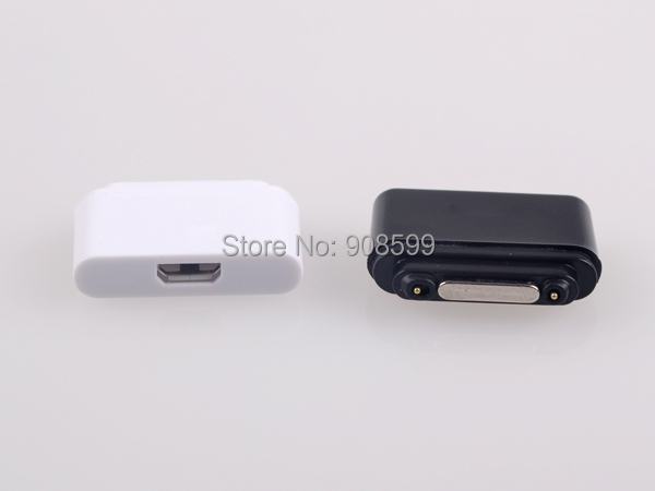 Micro USB Magnetic Charger Adapter Converter Connector for Sony Xperia Z1 Z2 Z1 mini L39h xl39h free shipping