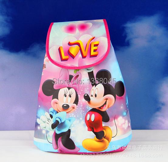 Гаджет   New Minnie Mickey School Bag Cartoon Sofia Princess Backpack Bag No-Woven Fabrics Kid