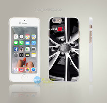 for Audi brand logo RS4 Avant Wheels Style Hard White Case Cover Coque for iPhone 4 4s 4g 5 5s 5g 5c 6 6s 6 6s Plus(China (Mainland))