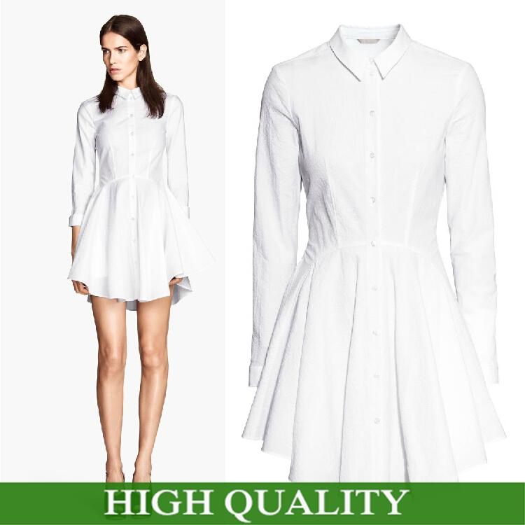 Turmec » white long sleeve plus size dresses
